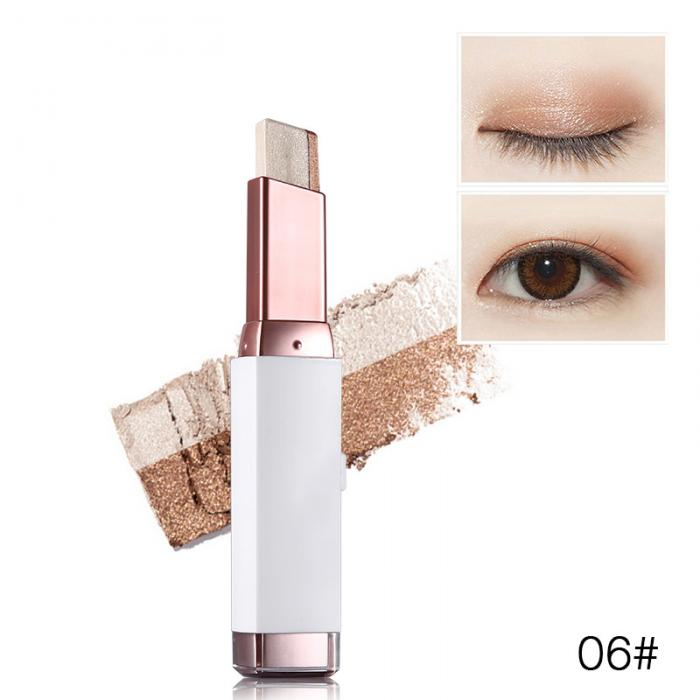 Fashion Eye Shadow Stick Double Color Eyes Makeup Cream Natural  Shimmer Glitter