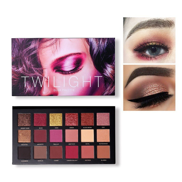 18 Colors Eyeshadow Pressed Palette Charm  Shimmer Matte Sexy Smoky Makeup