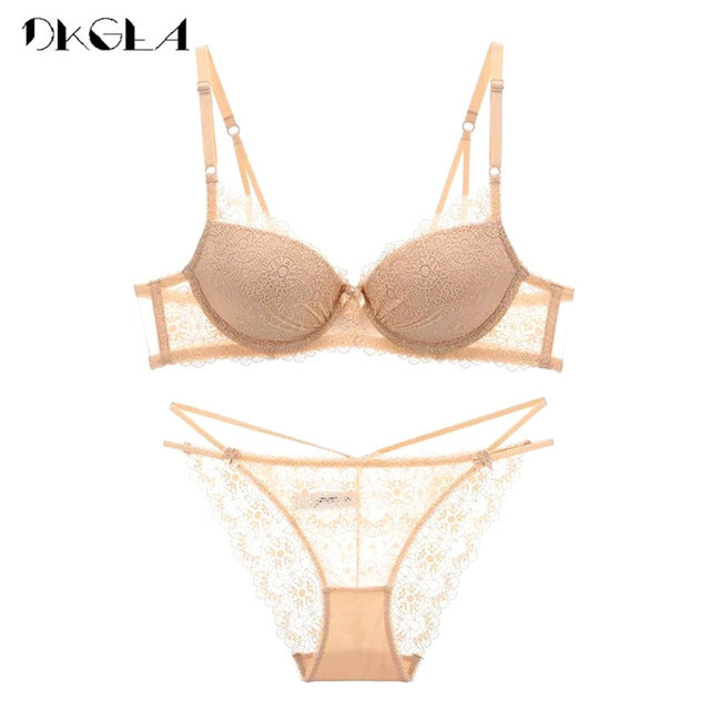 VenusFox Push Up Brassiere Lace Embroidery Lingerie Sets