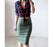 VenusFox Vintage Suede Knee-Length Pencil Skirts Plus Size