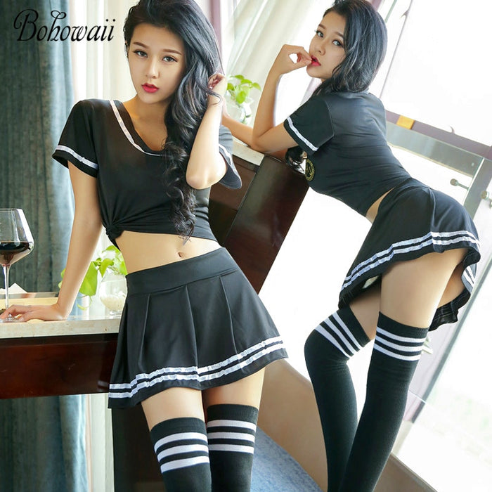 VenusFox Drive Him Crazy With This Classic Pure School Girl Sexy Cheer Leading Uniform