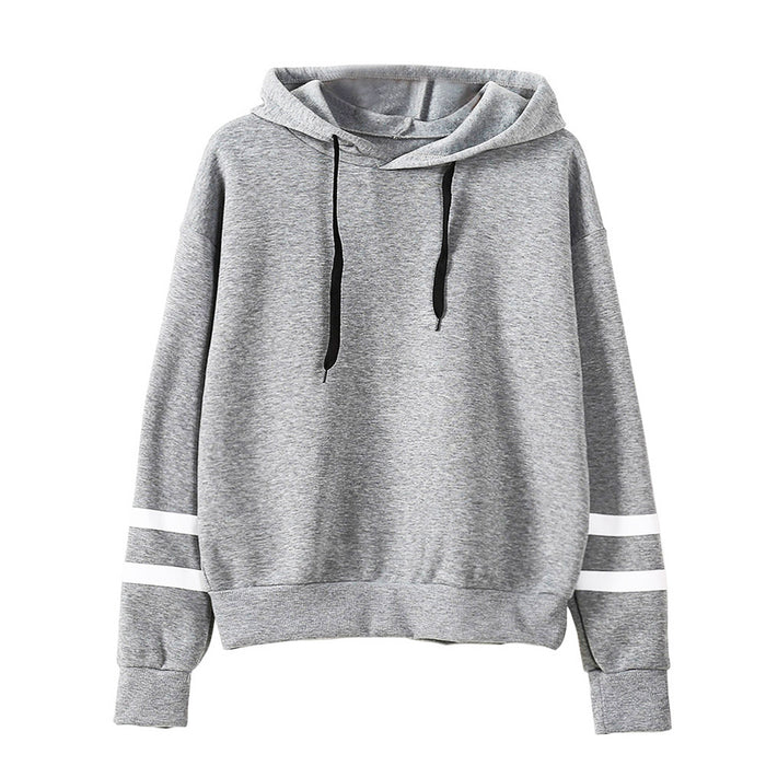 VenusFox Autumn Women Casual Long Sleeve Hooded Pullover Sweatshirts
