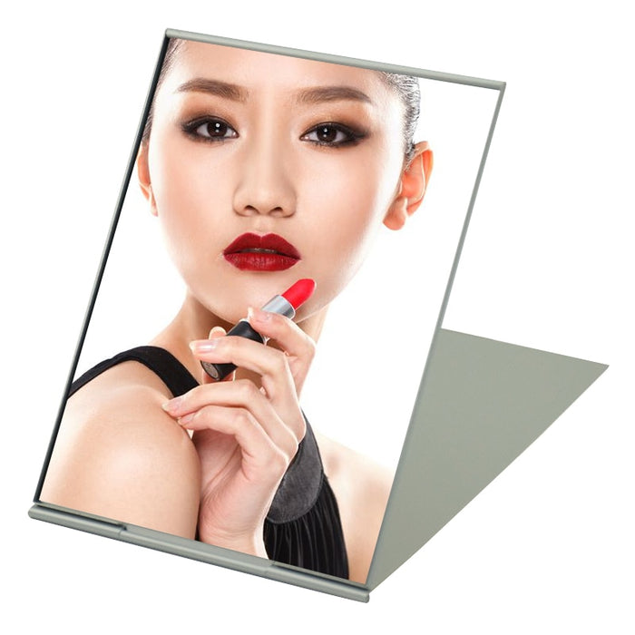 Ultra-thin Cosmetic Mirror 5 Sizes Make Up Pocket Silver Rectangle Foldable Compact Makeup Mirrors