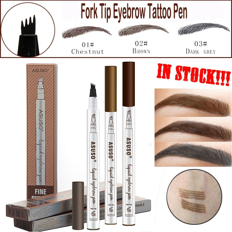 Microblading Eyebrow Tattoo Pen Waterproof Eye Makeup 3 Colors E