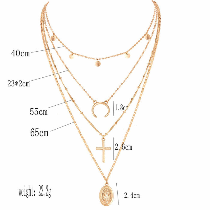 women Fashion Jewelry Short crystal stars Gold color Choker Chain Necklace for