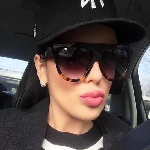 Fashion Women Luxury Vintage Sun glasses Big Full Frame Eyewear