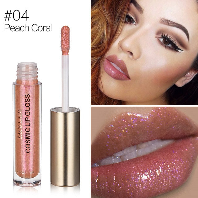 Glitter Lipstick 4 Colors Sexy Liquid Moisturizer Shine Lip Gloss
