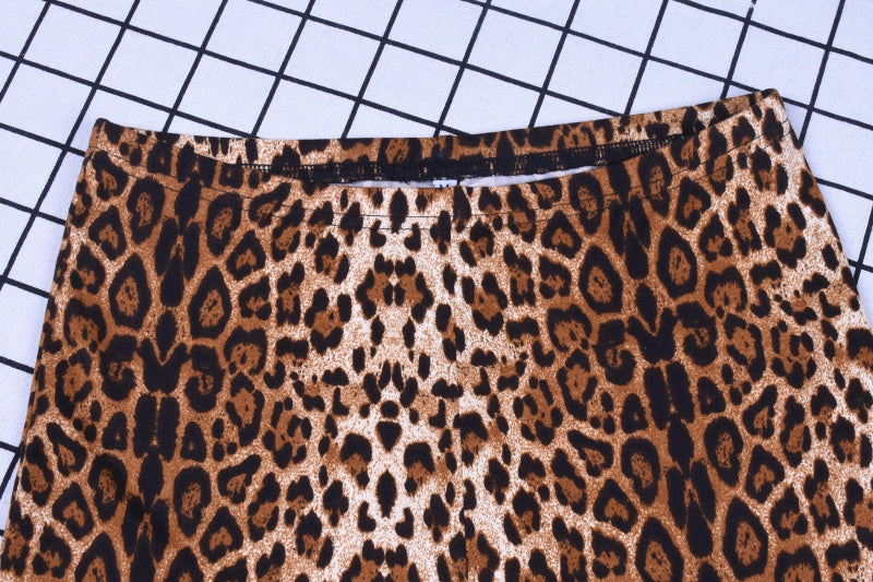 VenusFox fashion sexy bodycon high waist leopard print pants