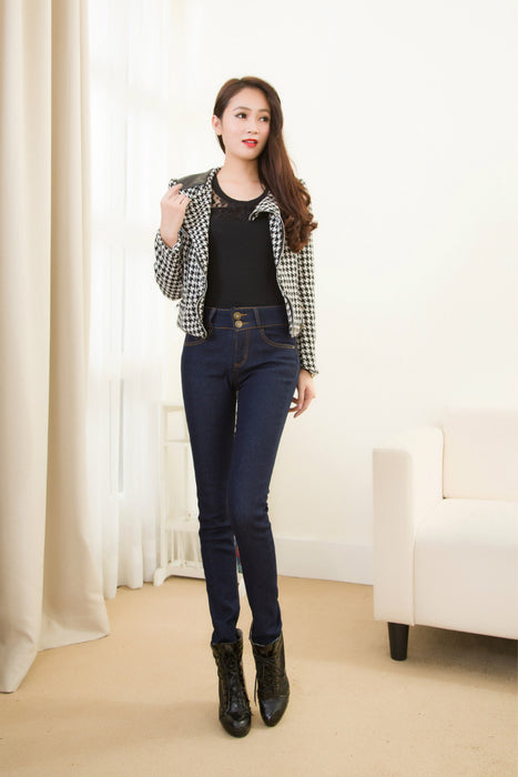 VenusFox High Waist Warm Jeans