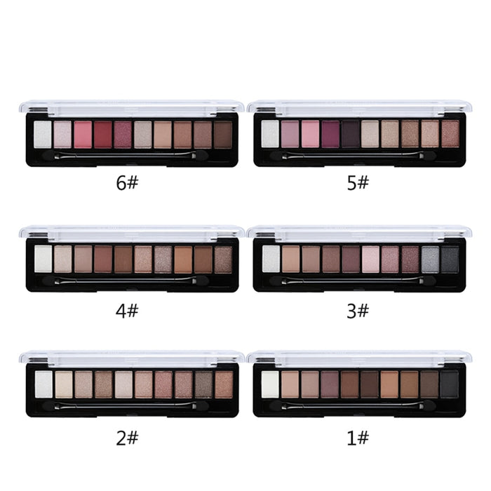 Earth Color 10 Colors Eyeshadow Palette Glitter Matte Silky Pigments Eye Shadow