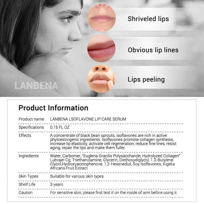 Lip Care Serum Lip Plumper Lips Mask Reduce Fine Lines Moisturizing