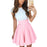 VenusFox Women Cute Beach Summer Lace Mini A Line Dress