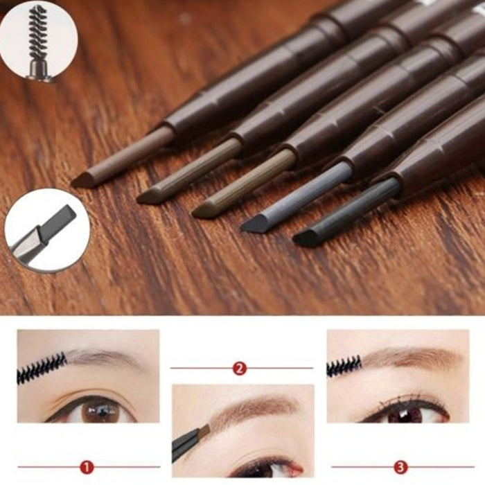 Dual-Ending Automatic Eyebrow Pencil Waterproof Long-lasting Eye Brow