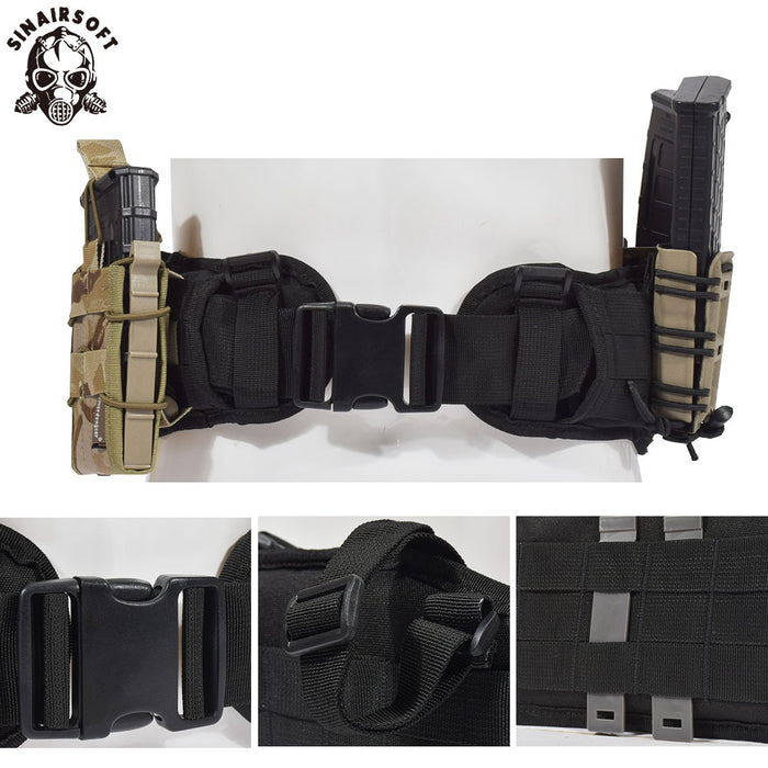 WOLFCOM® Tactical Military Hunting Outdoors Combat Various Colors Padded Molle Belt