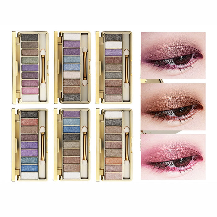 9 Colors Diamond Bright Eyeshadow Nude Smoky Palette Cosmetics Set