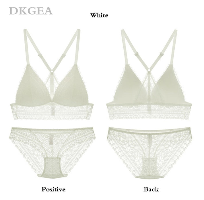 VenusFox Sexy Embroidery Lace Bra Set Lingerie Plus Size