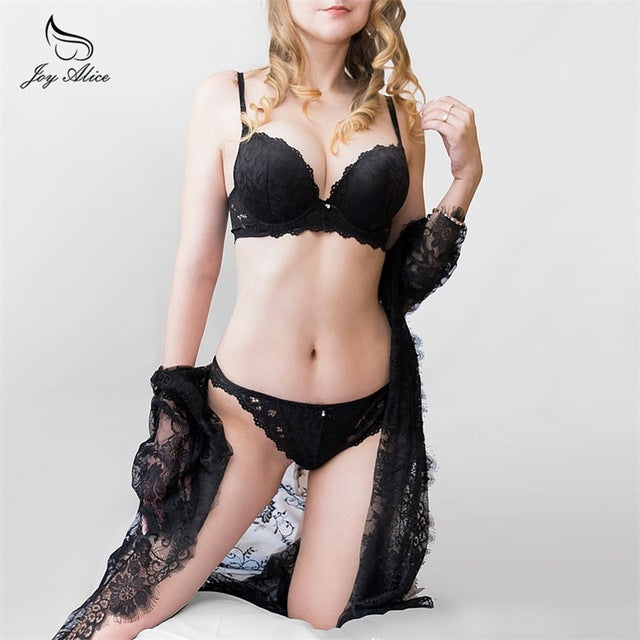 VenusFox Lace push up bra panties lingerie set