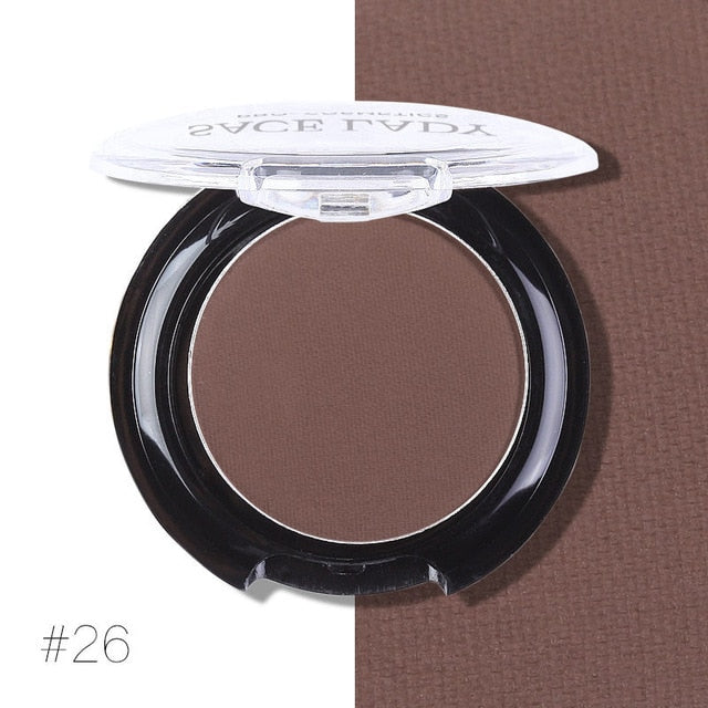 Matte Shadow Palette Waterproof Eyeshadow Pigment Natural Long-lasting Cosmetic