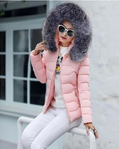 VenusFox Long Sleeve Faux Fur Hooded Parka Coats
