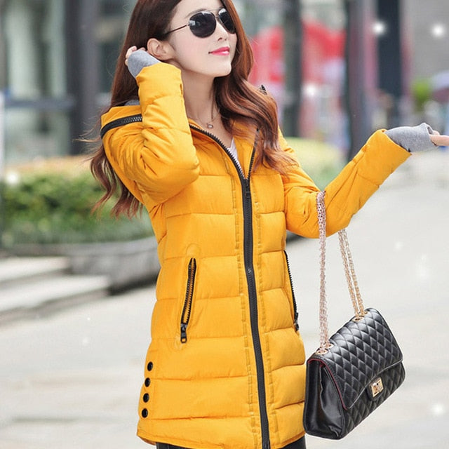 VenusFox long hooded Jacket coat plus size