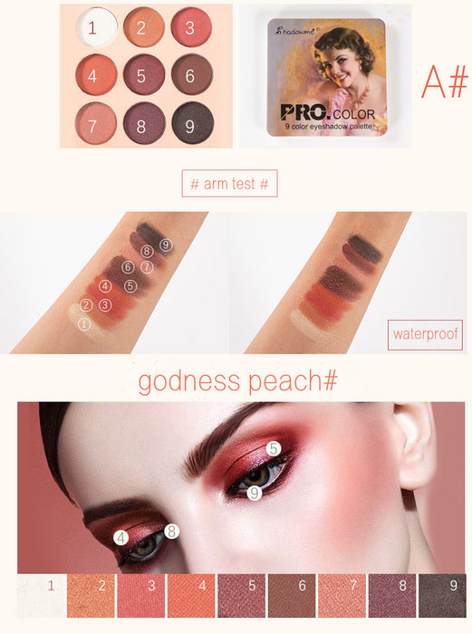 Matte Eyeshadow Palette Nude Minerals Professional Eye Shadow Powder Pigment Cosmetic Waterproof