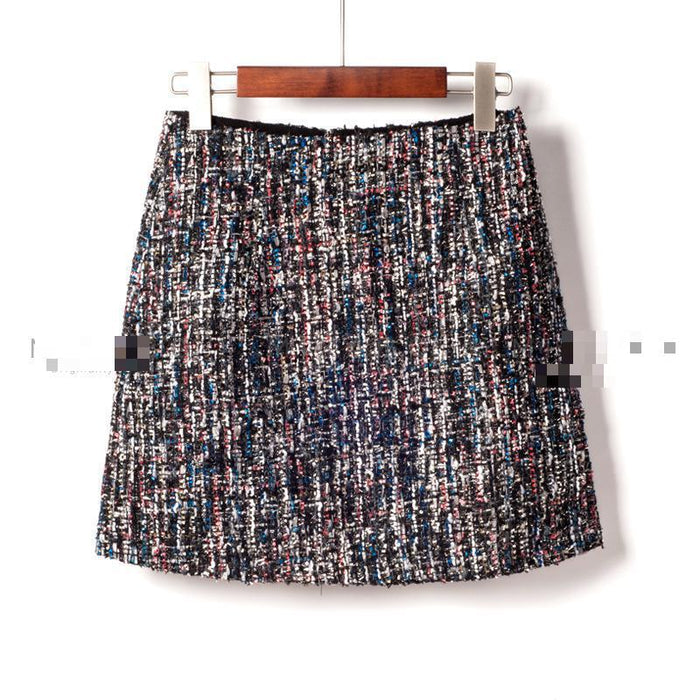 VenusFox Fashion Sequins High Waist Mini Skirt