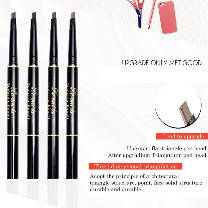 Double-Ended 3D Eyebrow Pencil with Mascara Natural Eye Brow Tint Cosmetics Waterproof Pigment