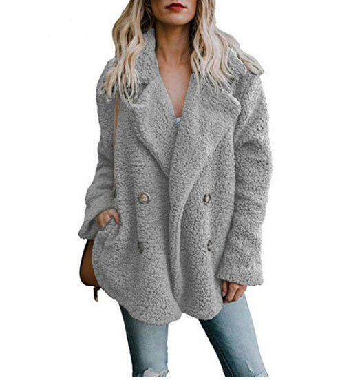VenusFox Vintage Faux Fur Winter Coat