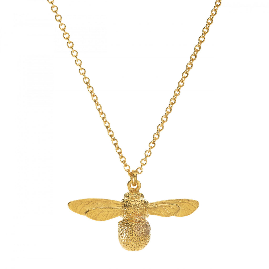 Baby Bumblebee necklace, gold