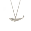 Baby blue whale necklace, silver