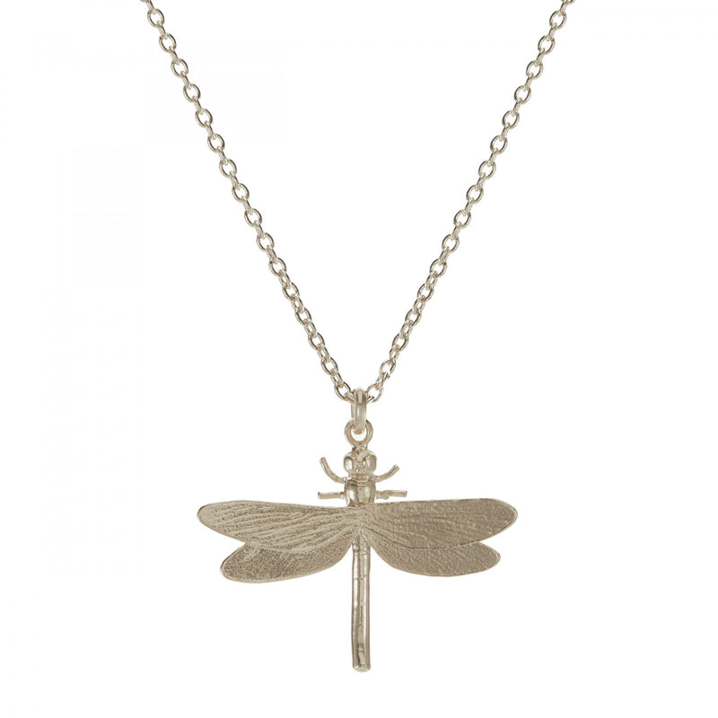 Dragonfly necklace, silver