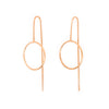Circle stalk drop earrings, rose gold
