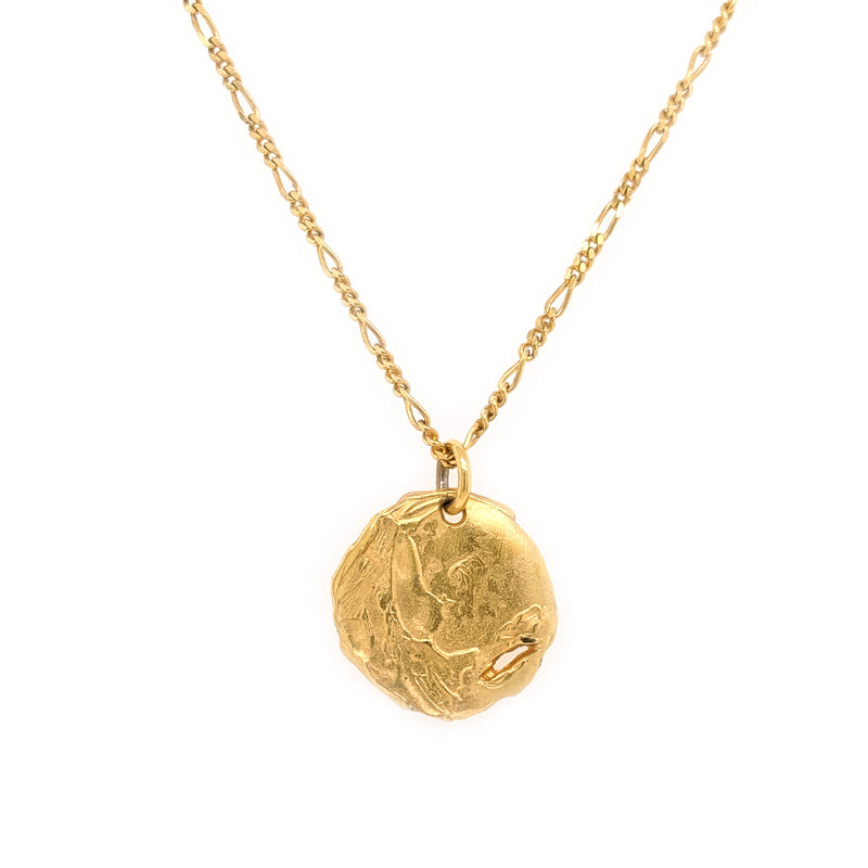 Opis pendant, gold