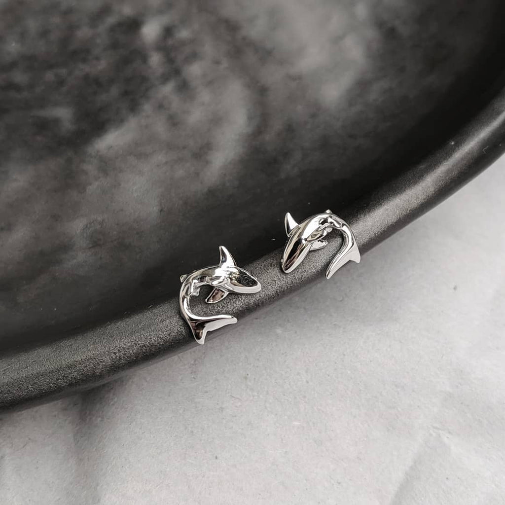 Grey Nurse Shark stud earrings