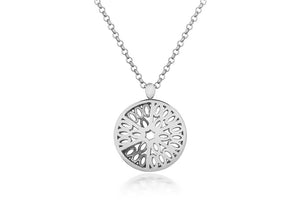 Seville Dome necklace, silver