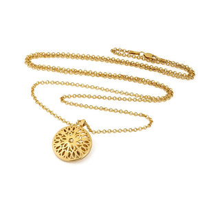 Seville Dome necklace, gold