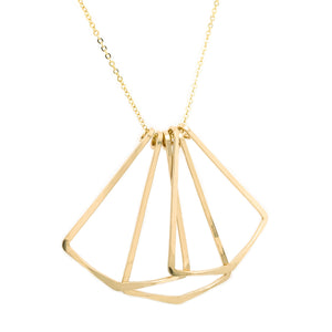 Flutter necklace, gold