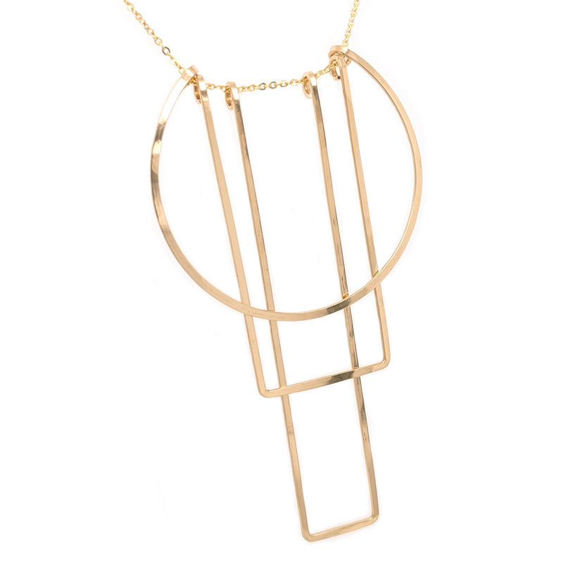 Simple Totem necklace, gold