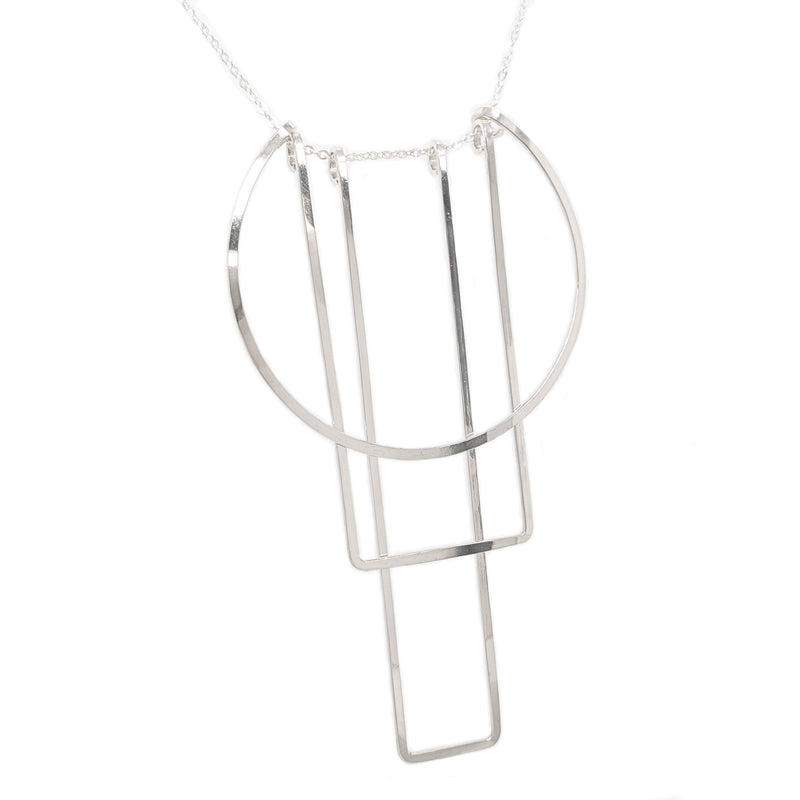 Simple Totem necklace, silver