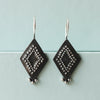 Diamond dot silver earrings