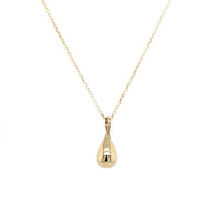 Solid 9ct gold droplet necklace