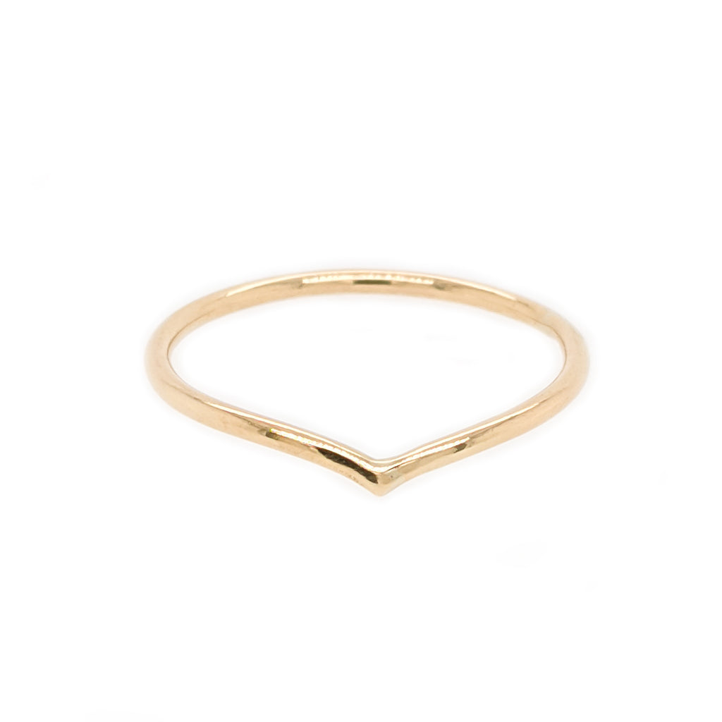 Solid 9ct gold wishbone ring