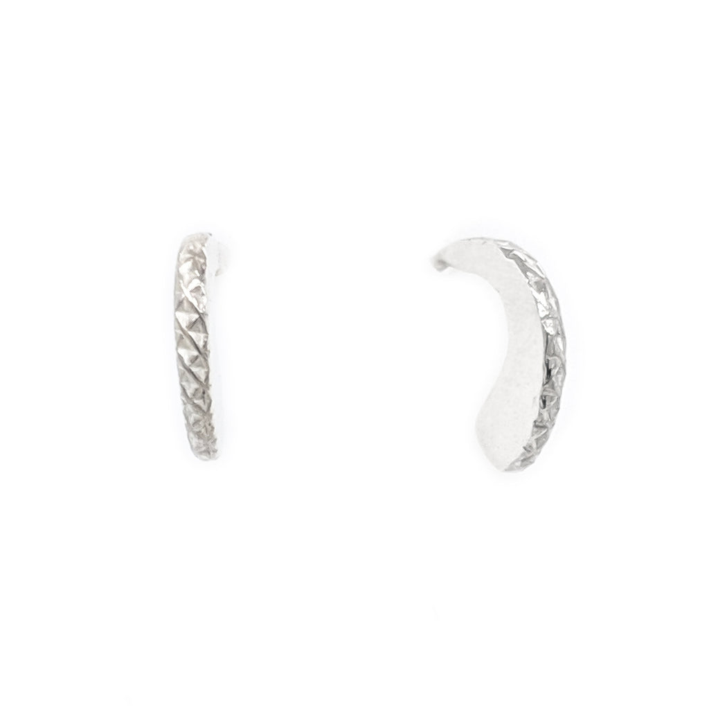 Silver Lace stud earrings