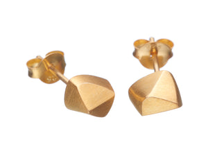 Faceted stud earrings, gold