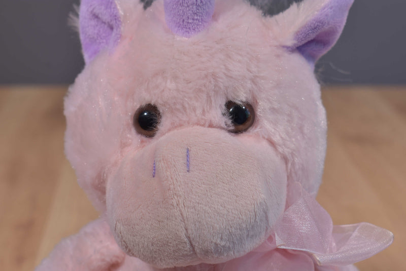 Kellytoy Pink and Purple Unicorn 2012 Plush