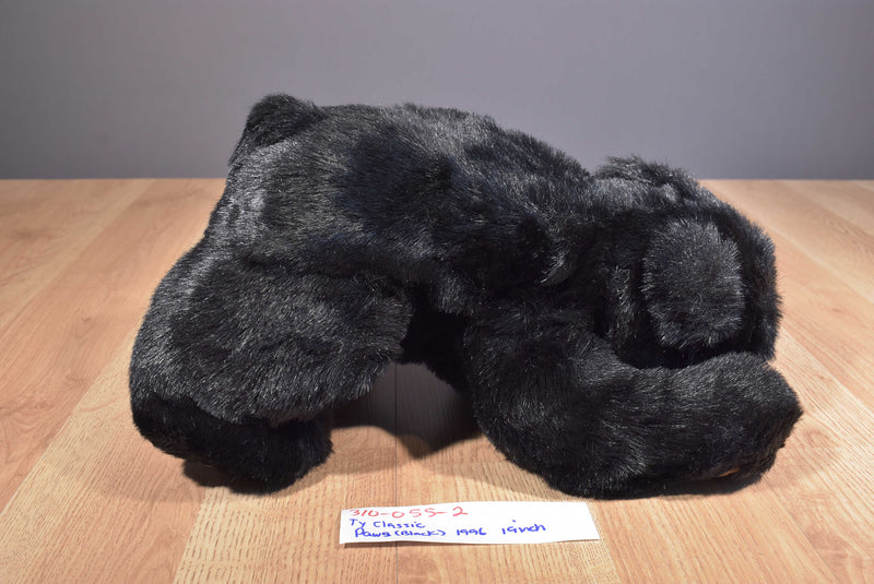 Ty Classic Paws Black Bear 1996 Beanbag Plush