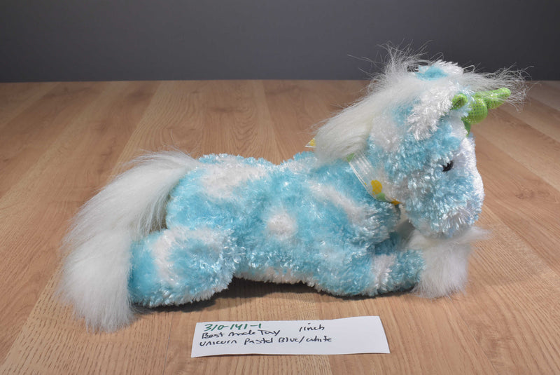 Best Made Toys Pastel Blue and White Unicorn Beanbag Plush