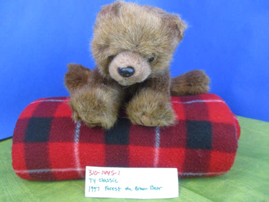 Ty Classic 1997 Forest the Brown Bear Plush(310-1445-1)
