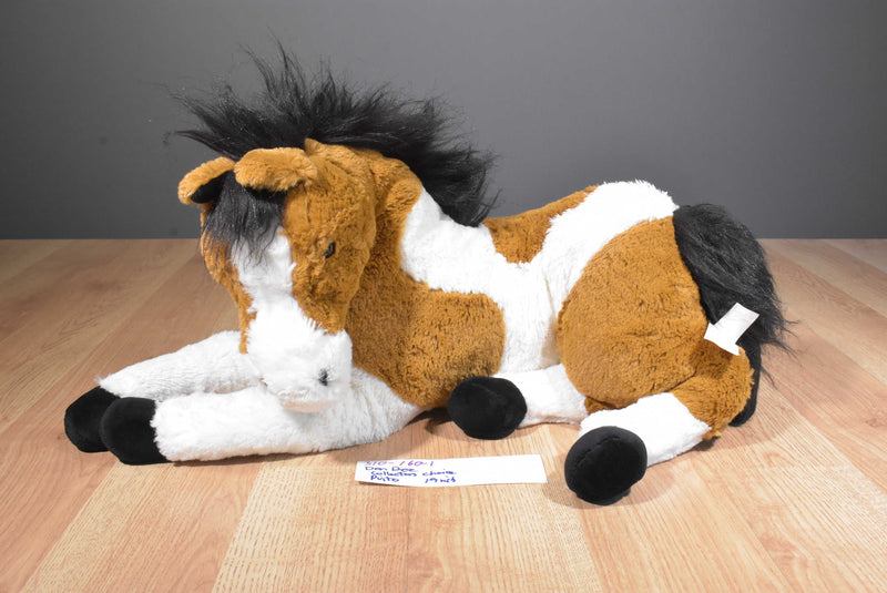 Dan Dee Collectors Choice Brown and White Pinto Horse 2010 Plush