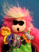 Berkley Designs Pink Tropical Hawaiian Long Legs Monkey 2002 Plush